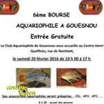 6 ème Bourse aquariophile à Gouesnou (29), le samedi 20 février 2016