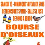 Bourse d'Oiseaux à Béthencourt sur Mer (80), du samedi 13 au dimanche 14 février 2016