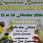 Exposition-Bourse aux oiseaux à Vénérolles (02), du samedi 13 au dimanche 14 février 2016