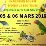 Exposition-bourse d'oiseaux exotiques à Culin (38), du samedi 05 au dimanche 06 mars 2016