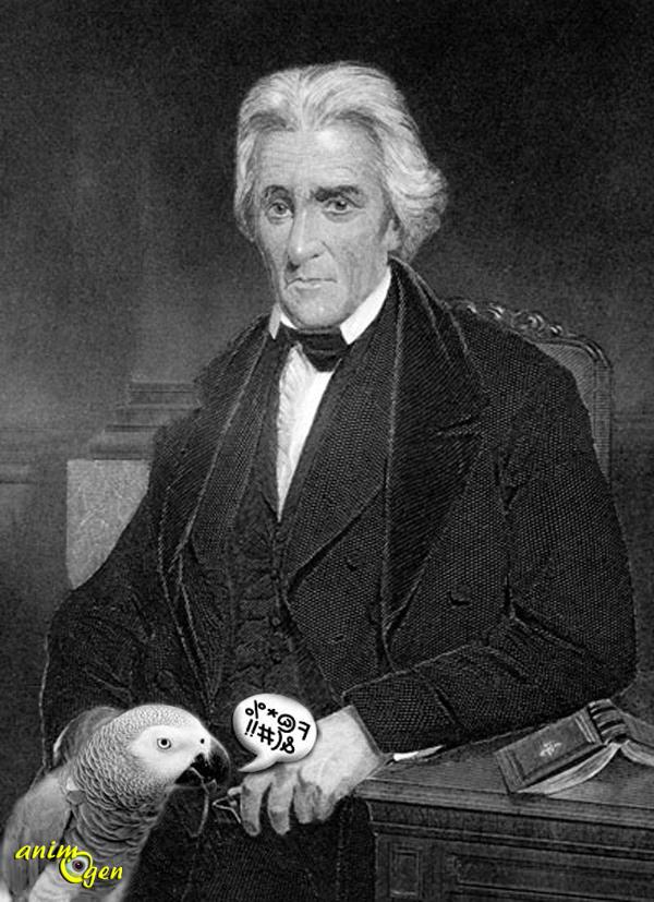 Histoire d'animaux : le perroquet mal élevé d'Andrew Jackson