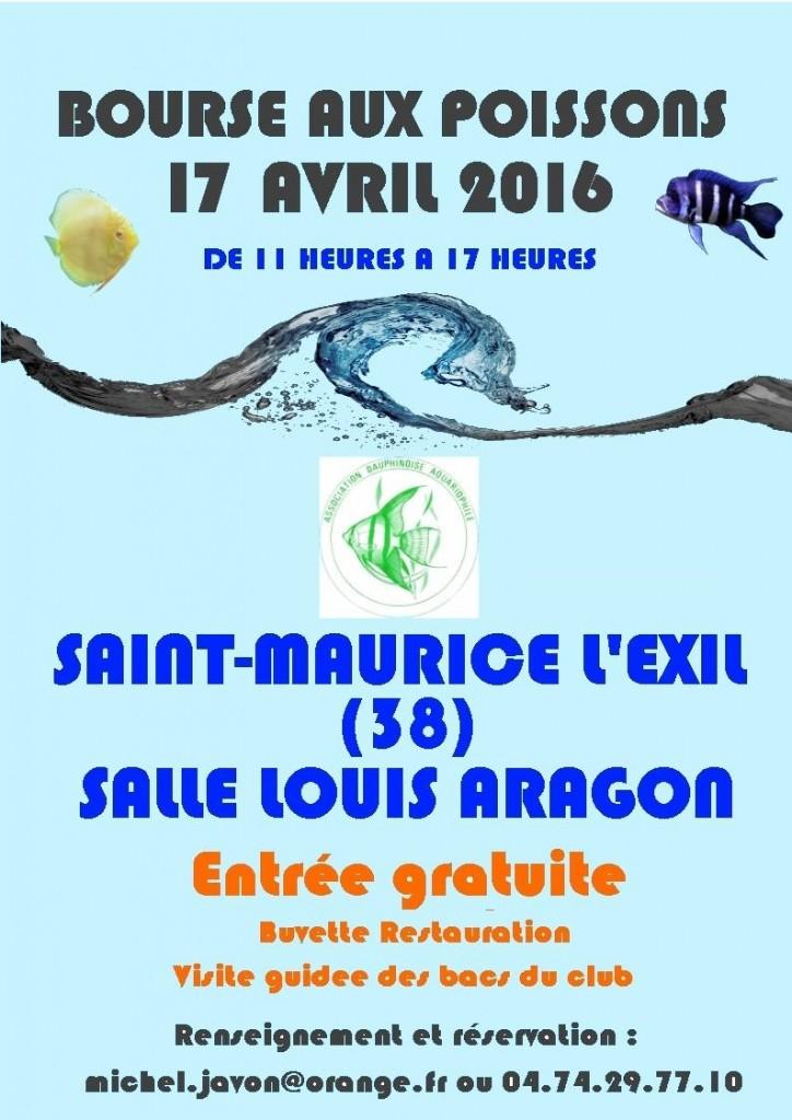 33 ème Bourse aux poissons à Saint Maurice l'Exil (38), le dimanche 17 avril 2016