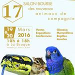17 ème Salon-Bourse des Nouveaux Animaux de Compagnie à la Broque (67), du samedi 19 au dimanche 20 mars 2016