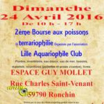 Bourse aux poissons et terrariophilie à Ronchin (59), le dimanche 24 avril 2016