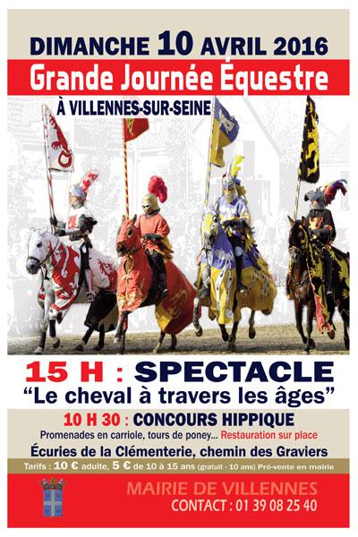 Grande journée équestre à Villennes sur Seine (), le dimanche 10 avril 2016
