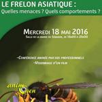 """Conférence """"le frelon asiatique"""" à Séranon (06), le mercredi 18 mai 2016"""