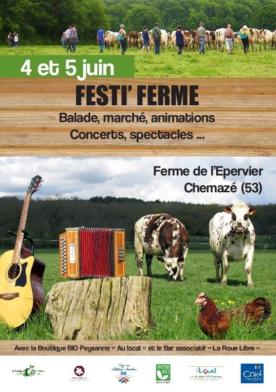 Festi'Ferme à Chemazé (53), du samedi 04 au dimanche 05 juin 2016