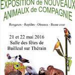 Exposition de Nouveaux Animaux de Compagnie à Bailleul sur Thérain (69), du samedi 21 au dimanche 22 mai 2016