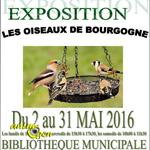 """Exposition """"les oiseaux de Bourgogne""""à Plombières-Lès-Dijon (21), 02 mai au 31 mai 2016"""