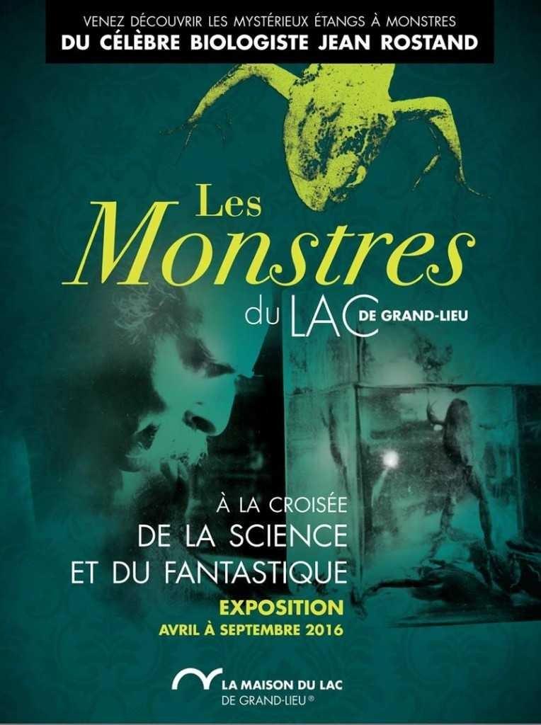 """Exposition """"Les monstres du Lac de Grand-Lieu"""" à Bouaye (44), d'avril à septembre 2016"""