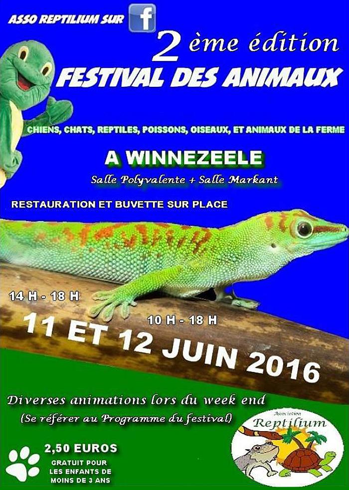 2 ème édition du Festival des animaux à Winnezeele (59), du samedi 11 au dimanche 12 juin 2016