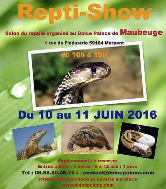 Repti-Show à Marpent (59), du samedi 11 au dimanche 12 juin 2016