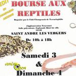 Bourse aux reptiles à Saint André les Vergers (10), du samedi 03 au dimanche 04 septembre 2016