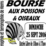 Bourse aux poissons et oiseaux à Reims (51), le dimanche 25 septembre 2016