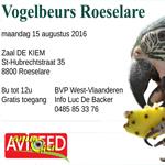 Bourse aux oiseaux à Roeselare (Belgique), le lundi 15 août 2016