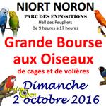 Grande Bourse aux oiseaux de cages et de volières à Niort-Noron (79), le dimanche 02 octobre 2016