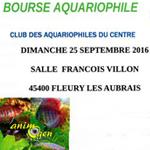 Bourse aquariophile à Fleury les Aubrais (45), le dimanche 25 septembre 2016