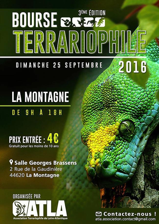 3 ème Bourse Terrariophile de l'ATLA à La Montagne (44), le dimanche 25 septembre 2016