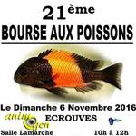 21 ème Bourse aux poissons à Ecrouves Justice (54), le dimanche 06 novembre 2016
