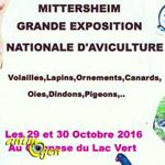 Grande Exposition Nationale d'Aviculture à Mittersheim (57), du samedi 29 au dimanche 30 octobre 2016