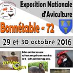 Exposition Nationale à Bonnetable (72), du samedi 29 au dimanche 30 octobre 2016