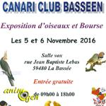 Exposition d'oiseaux et Bourse à La Bassée (59), du samedi 05 au dimanche 06 novembre 2016