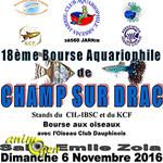 18 ème Bourse aquariophile et Bourse aux oiseaux à Champ-sur-Drac (38), le dimanche 06 novembre 2016