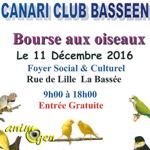 Bourse aux oiseaux à La Bassée (59), le 11 dimanche décembre 2016