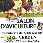 Ciel, 31 ème Salon d'aviculture à Verdun (71), du vendredi 25 au dimanche 27 novembre 2016