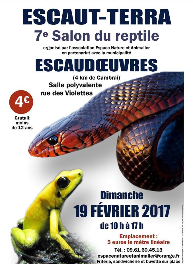 7 ème Salon terrariophile Escaut-Terra à Escaudoeuvres (59), le dimanche 19 février 2017