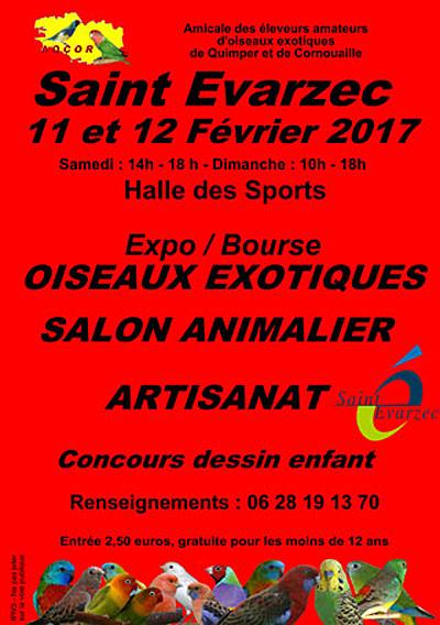 Exposition-Bourse d'oiseaux exotiques à Saint Evarzec (29), du samedi 11 au dimanche 12 février 2017