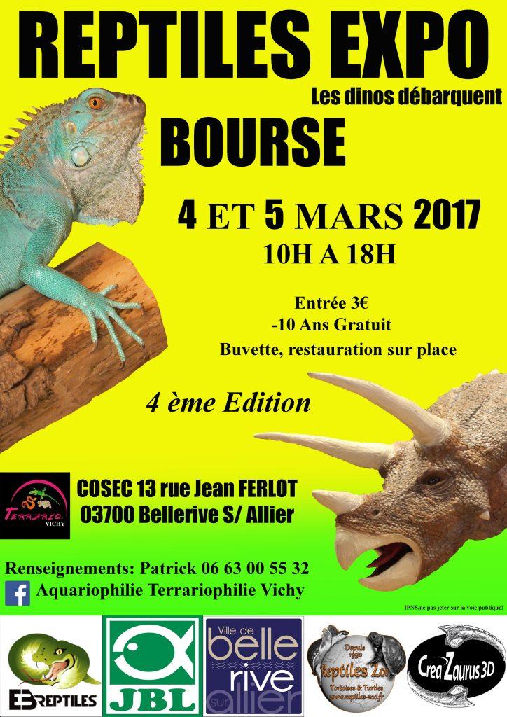 4 ème Reptiles expo-bourse à Bellerive (03), du samedi 04 au dimanche 05 mars 2017