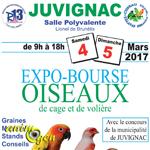 Expo-Bourse d'oiseaux de cage et de volière à Juvignac (34), du samedi 04 au dimanche 05 mars 2017