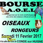 Bourse aux oiseaux et rongeurs à Condé sur Huisne (61), le samedi 11 février 2017