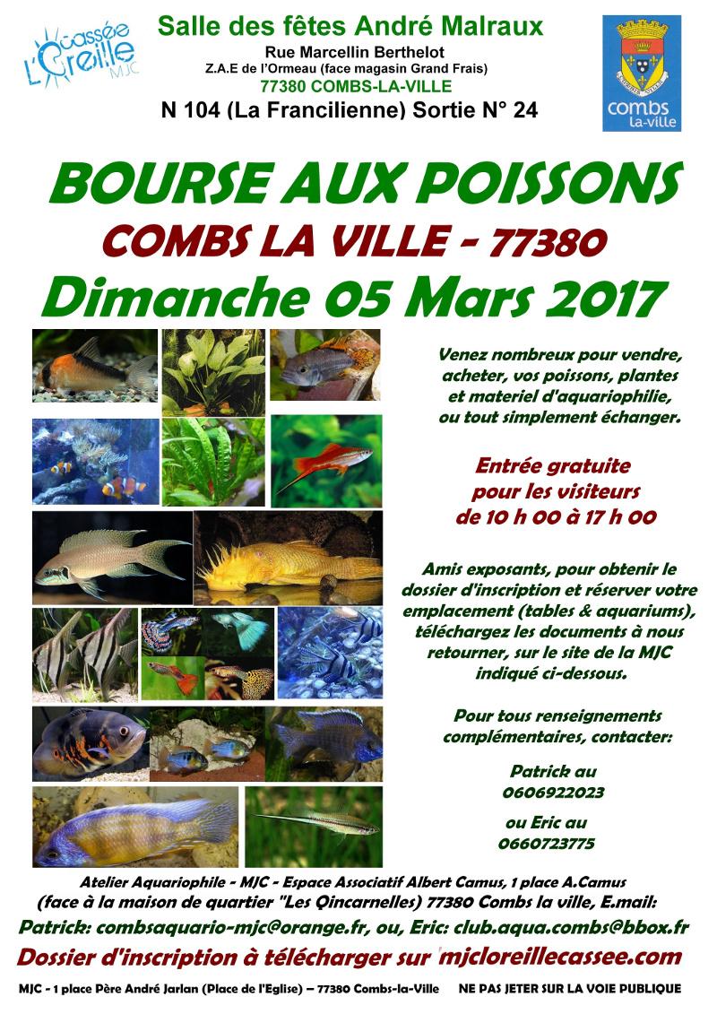 Bourse aux poissons combs la ville 77 le dimanche 05 for Salon aquariophile 2017