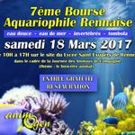 7 ème Bourse aquariophile rennaise à Rennes (35), le samedi 18 mars 2017
