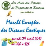 Marché européen des oiseaux à Haguenau (67), le samedi 29 avril 2017