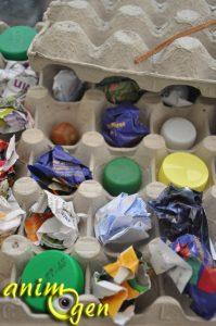 Jouet pour perroquet à fabriquer : la boîte à oeufs aux trésors