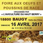 Foire aux oeufs et poussins de race à Baugy (18), le dimanche 16 avril 2017