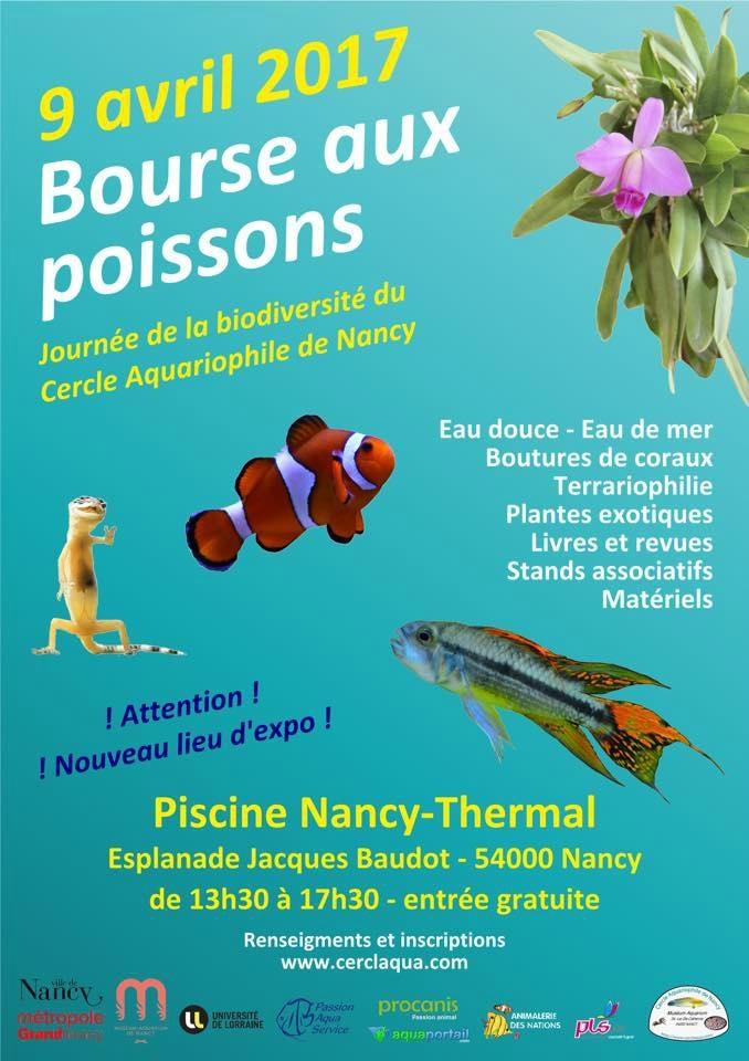 Bourse aux poissons, terrariophilie et plantes à Nancy (54), le dimanche 09 avril 2017