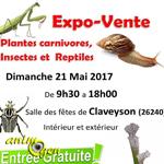 Expo-vente de plantes carnivores, insectes et reptiles à Claveyson (26), le dimanche 21 mai 2017