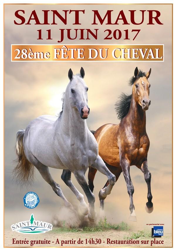 28 ème Fête du cheval à Saint Maur (36), le dimanche 11 juin 2017