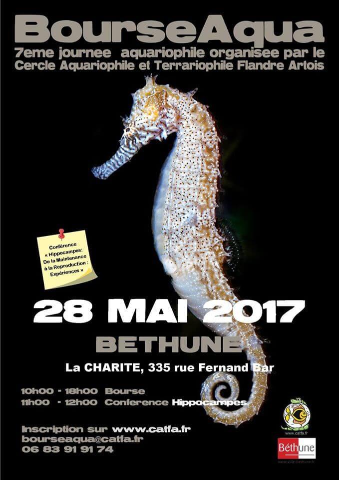 """7 ème Bourse aquariophile """"BourseAqua"""" à Béthune (62), le dimanche 28 mai 2017"""
