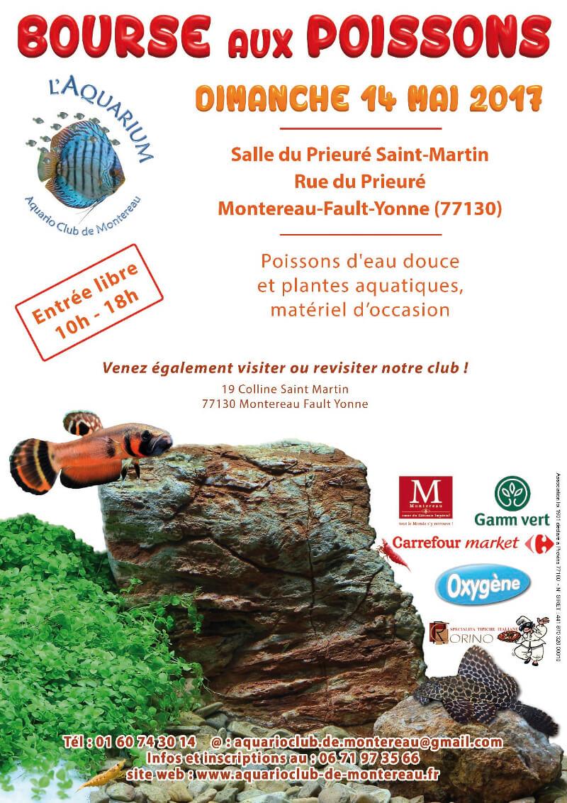 Bourse aux poissons à Montereau-Fault-Yonne (77), le dimanche 14 mai 2017