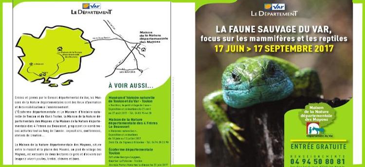 """Exposition """"La Faune Sauvage du Var"""" aux Mayons (83), du 17 juin au 17 septembre 2017"""