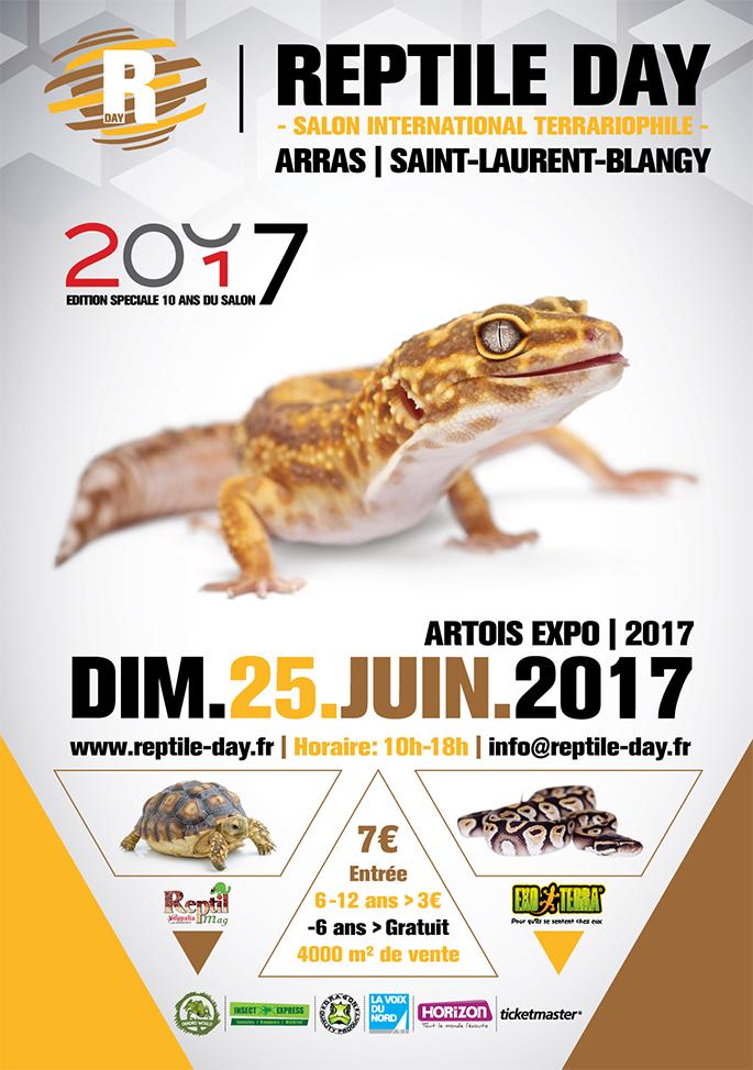 Reptile day (Salon international terrariophile) à Arras (62), le dimanche 25 juin 2017