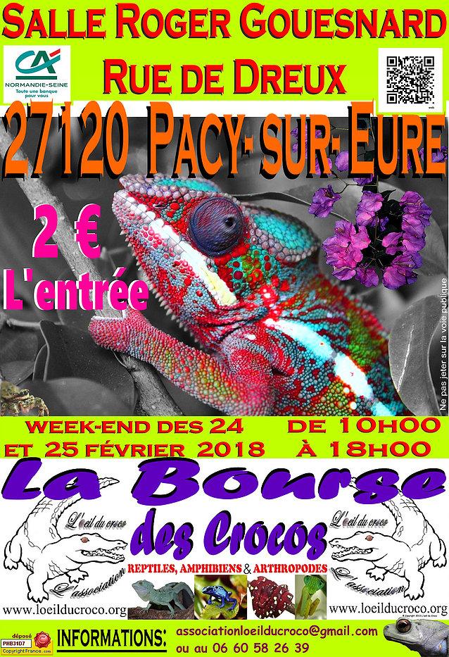 Bourse aux reptiles, amphibiens et arthropodes à Pacy sur Eure (27), du samedi 24 au dimanche 25 février 2018