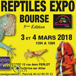 5 ème Reptiles expo-bourse à Bellerive (03), du samedi 03 au dimanche 04 mars 2018