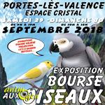 Exposition-Bourse aux oiseaux à Portes lès Valence (26), du samedi 29 au dimanche 30 septembre 2018